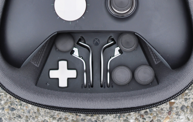 The included case lets you store all the controller's extra parts neatly