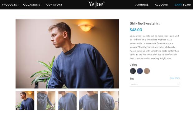 YaJoe Website 3
