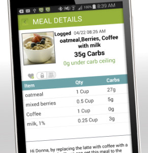 Dietitians estimate carbs based on pictures sent with the app