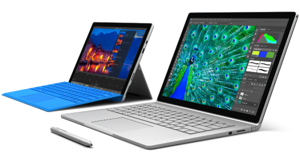 Microsoft's Surface Pro 4 and Surface Book.