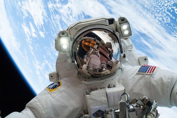 Astronaut in orbit