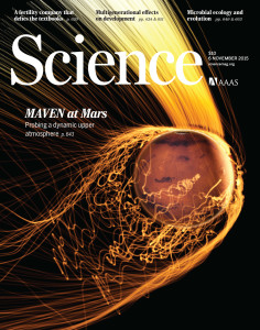 Science cover about MAVEN Mars observations