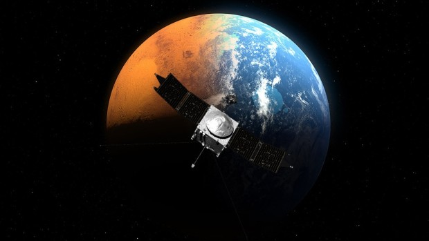 MAVEN orbiter and Mars