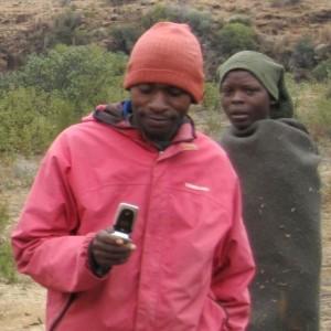 Rwandan phone user