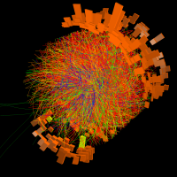 Image: Lead-ion collision at LHC