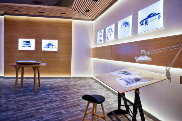The Volvo demo room for Microsoft's HoloLens. (Microsoft Photo)