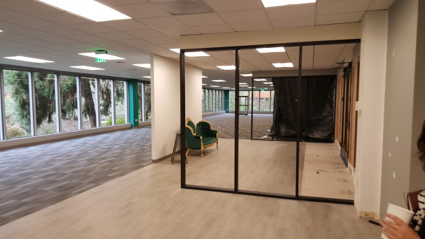 OfferUp recently doubled the size of its office. (GeekWire Photo, Jacob Demmitt)
