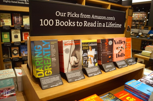 inside amazon�s first bookstore how the online giant is