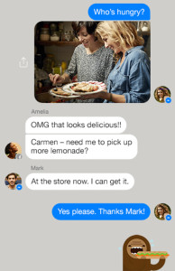 Facebook's Messenger app has obvious iOS influences