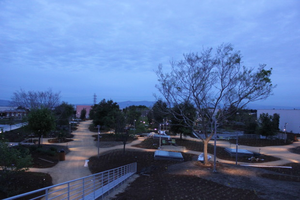 Facebook's rooftop park at the company's Menlo Park, Calif. headquarters. (Facebook Photo)