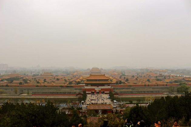A view of The Forbidden City in Beijing, China.