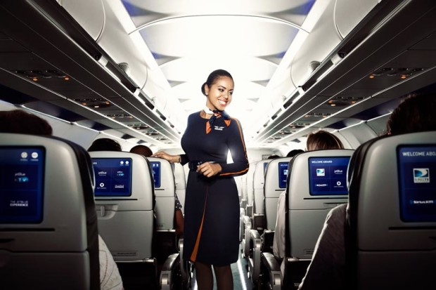 JetBlue and Amazon are now partnering to offer free in-flight video streaming. (JetBlue Photo)