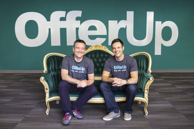 OfferUp co-founders Arean Van Veelen (left) and Nick Huzar (right). Credit: OfferUp