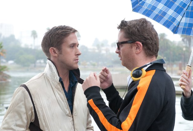 Photo via imdb.com/'Drive' with Ryan Gosling (left) and director Nicolas Winding Refn (right)