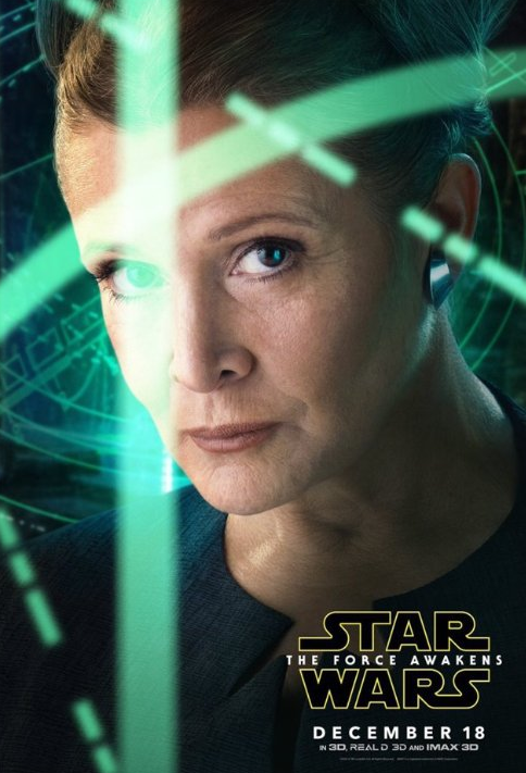 Star Wars poster with General Organa