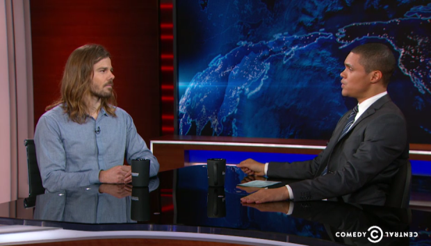Photo via The Daily Show/ Dan Price with Trevor Noah