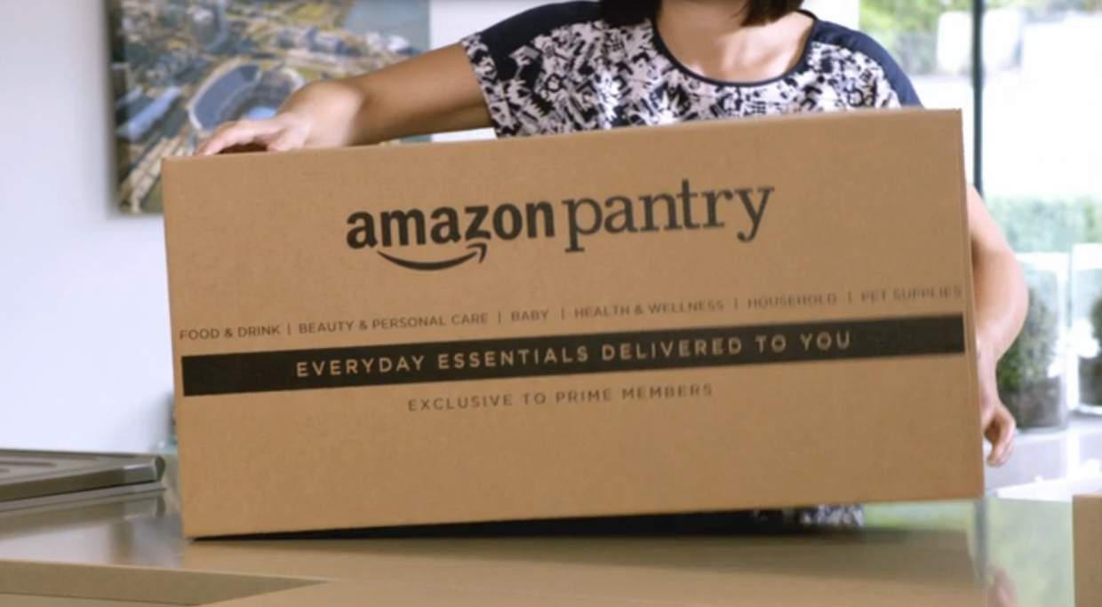 Amazon is launching its Amazon Pantry grocery delivery service in the UK.