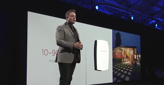 Elon Musk debuting the Tesla battery in May