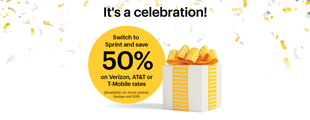 Sprint is offering a 50 percent discount on competitors' wireless plans.