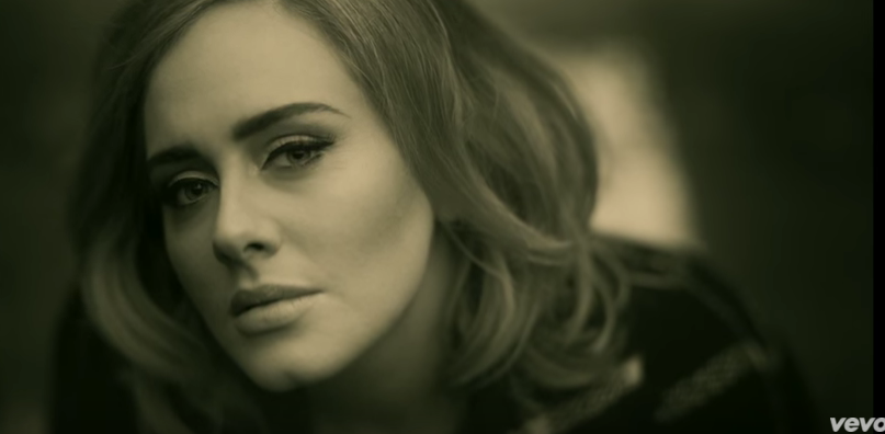 "Photo via YouTube/Adele's ""Hello"""