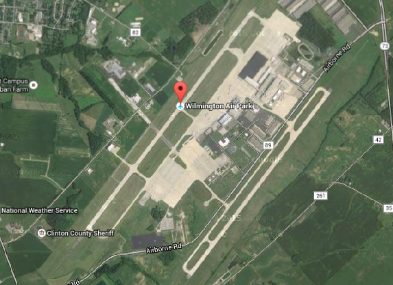 The Wilmington Air Park, via Google Earth.