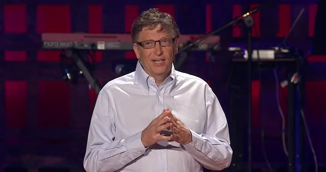 Photo via YouTube/TED/Bill Gates