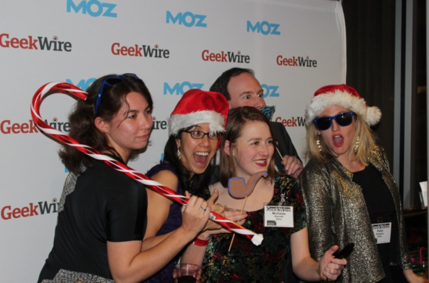 Fun in the Moz photo booth at the GeekWire Gala.