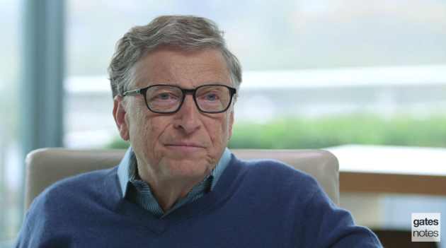 Bill Gates appears in a video announcing the Breakthrough Energy Coalition.