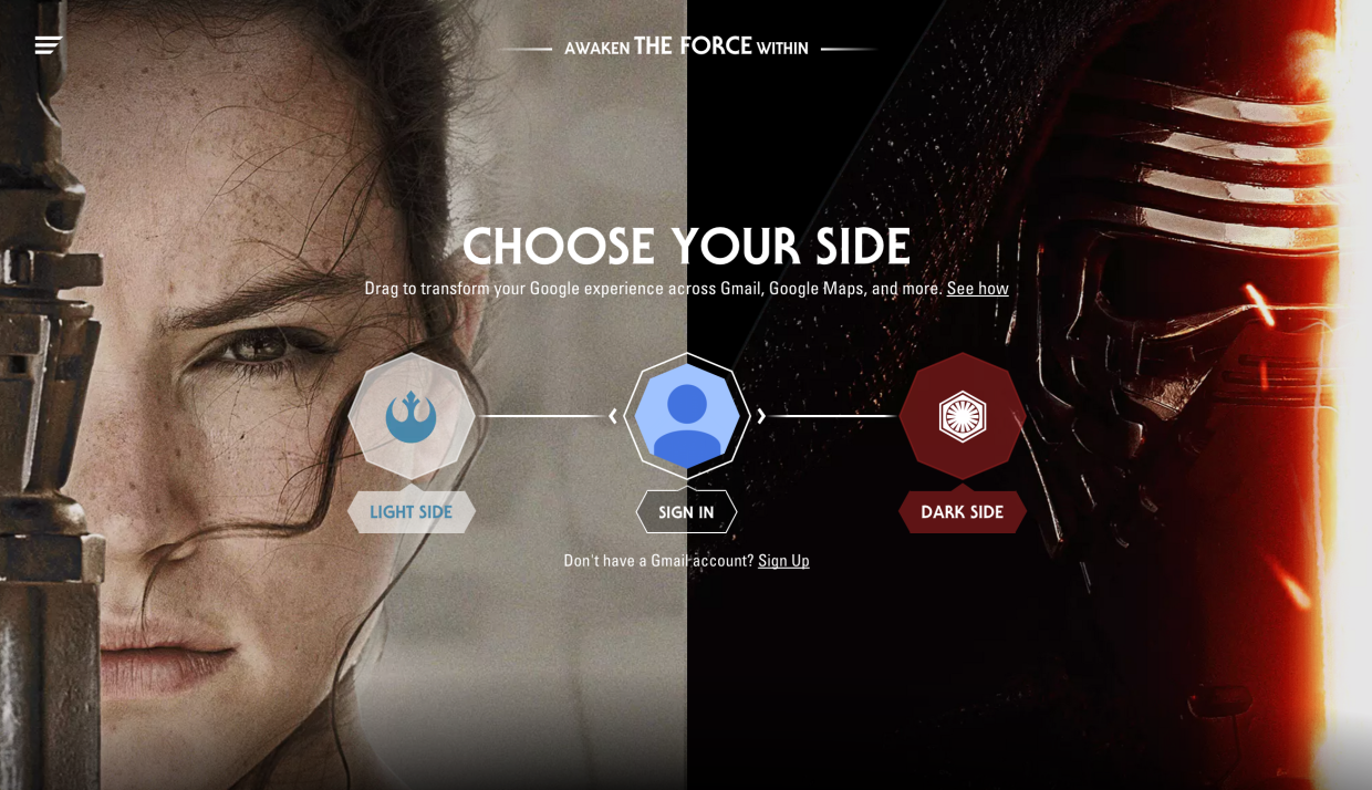 google star wars choose your side
