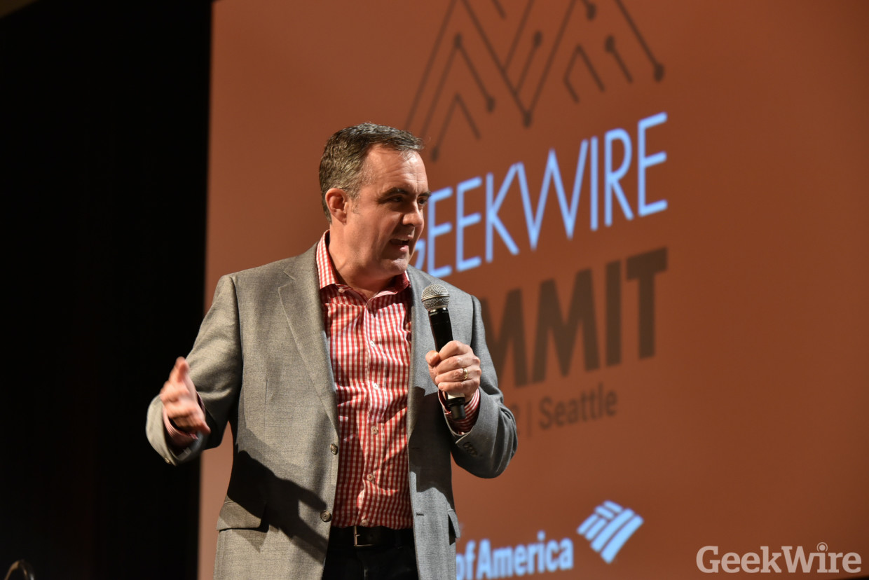 Bill Hankes, CEO and founder of Sqoop at the GeekWire Summit.