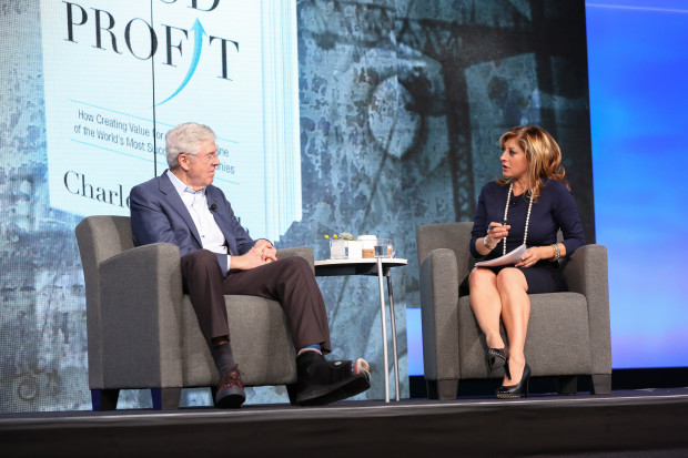 Charles Koch of Koch Industries at the EY Strategic Growth Forum, interviewed by Maria