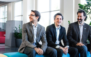Dylan Smith, Aaron Levie and Dan Levin of Box