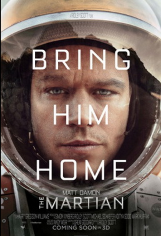Movie poster from The Martian. Photo: Wikipedia