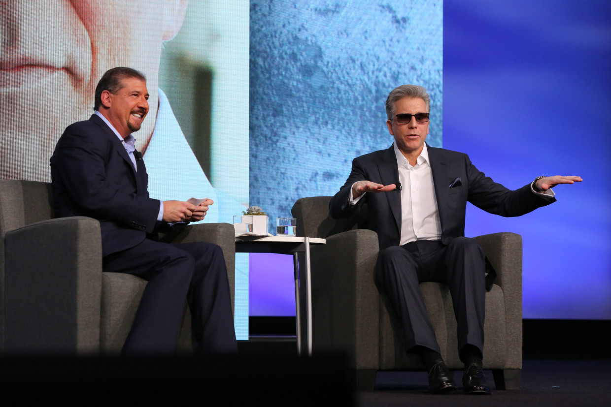 EY Chairman, left, interviewing SAP CEO Bill McDermott at the EY Strategic Growth Forum.