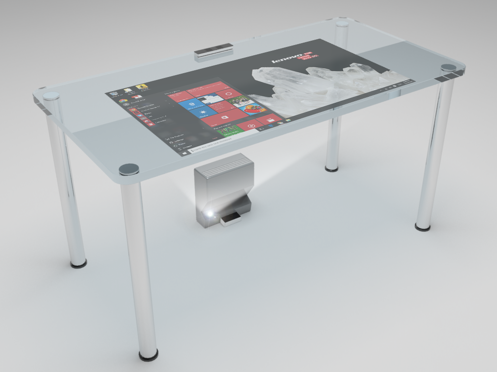 Ubi could be used for a tabletop touchscreen display