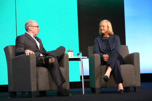 Fortune editor Alan Murray interviews HP CEO Meg Whitman at the EY Strategic Growth Forum. Photo: EY Strategic Growth Forum.