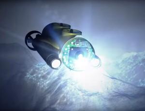 Submersible in ocean
