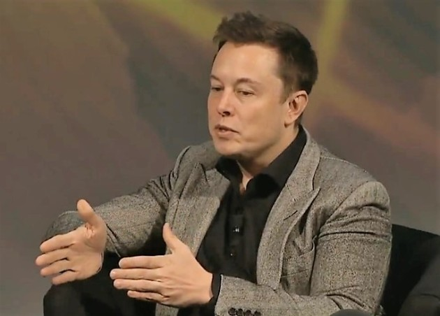 Elon Musk, the billionaire founder of SpaceX and Tesla Motors, takes questions at the American Geophysical Union's fall meeting in San Francisco.