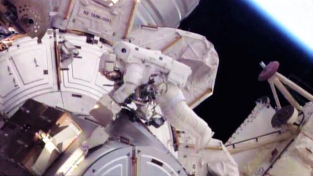 Tim Kopra at space station