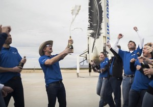 Blue Origin rocket landing