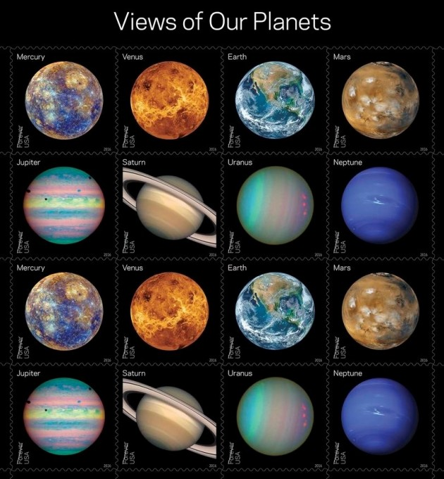 Views of the Planets stamps