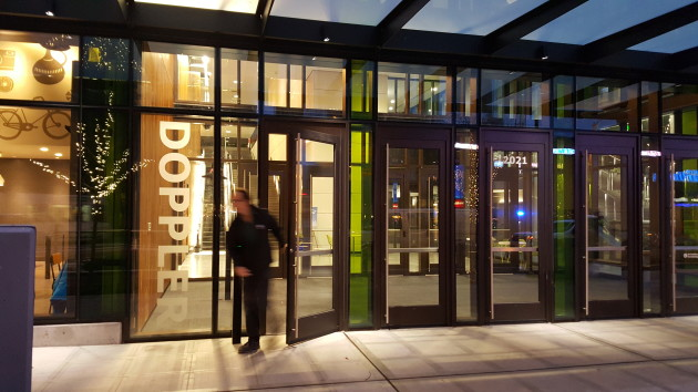 Amazon's new Doppler building opened on Monday. (GeekWire Photo)