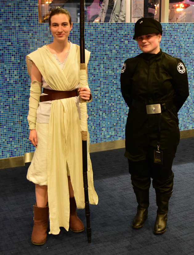 Rey and an Imperial commander are in the house for Episode III