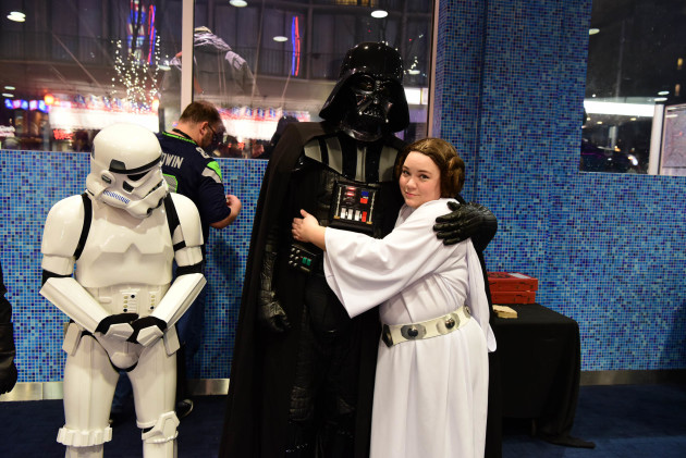 Dad & daughter night at the Cinerama's Star Wars marathon event last week.
