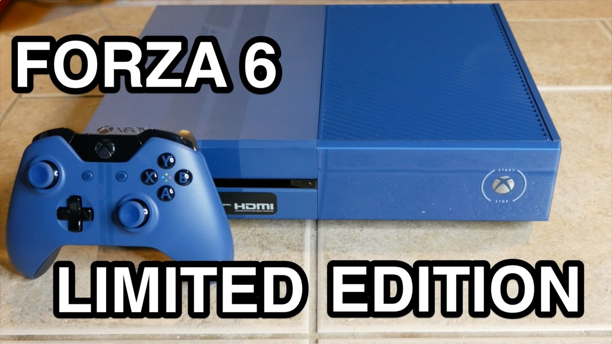 forza 6 xbox one limited edition console unboxing. Black Bedroom Furniture Sets. Home Design Ideas