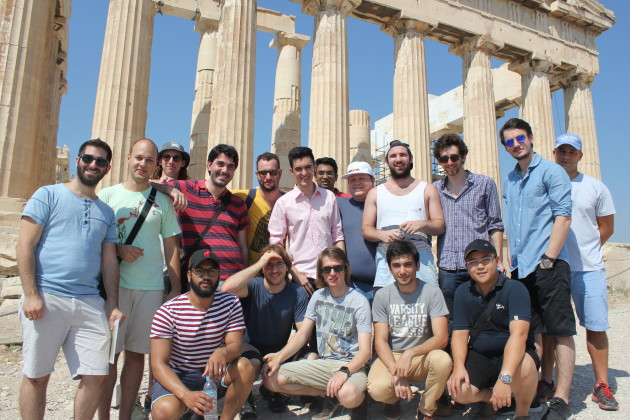 Part of the Resin.io team at a recent annual meeting in Greece.