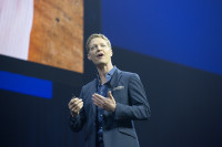 Tableau Software CEO Christian Chabot at the Tableau Conference. (Courtesy Tableau Software.)