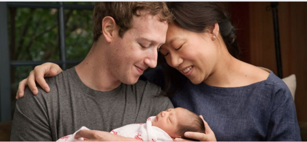 Mark Zuckerberg, Priscilla Chan and their daughter Max. (Facebook photo)