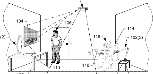 Drawling from Amazon's augmented reality patent.