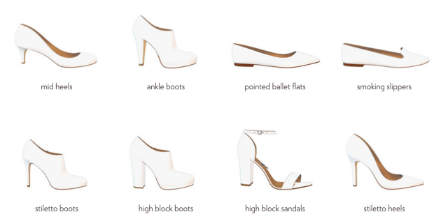 Shoe choices from Shoes of Prey